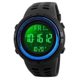 Image 5 - SKMEI Brand Men Sports Watches Fashion Chronos Countdown Mens Waterproof LED Digital Watch Man Military Clock Relogio Masculino