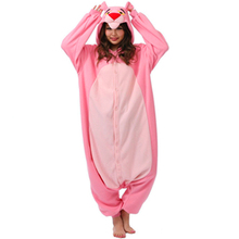 Polar Fleece Cute Pink Leopard Female Male Women Men Unisex Onesie for Adults Couple Pajamas All In One Family Sleepwear Pyjamas