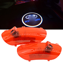 2x Car LED Door Welcome Logo Laser Projector Ghost Shadow Light For hyundai Sonata 8 2010