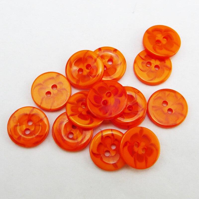 100 шт 13,5 мм разные прозрачные Цветы Форма окрашенная Смола пуговицы пальто сапоги швейная одежда аксессуары украшения пуговицы R-135-1 - Цвет: Orange