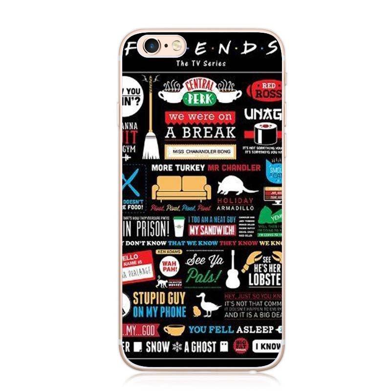 Classic Friends TV Show be hilarious Central Perk Park Soft Phone Case Cover Fundas For iPhone X 5S 6 6Plus 7 7Plus 8 8Plus