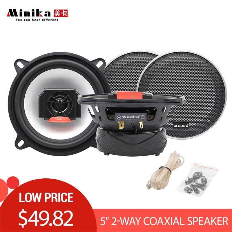 2pcs 5 Inch 220W Auto Car Automobile Speakers Vehicle HiFi Audio Full Range Frequency Coaxial Speaker