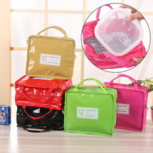 New 9 Colors Fashion PU Leather Lunch Bags Women Portable Functional Insulated Thermal Food Picnic Cooler Lunch Box Bag Tote(China)