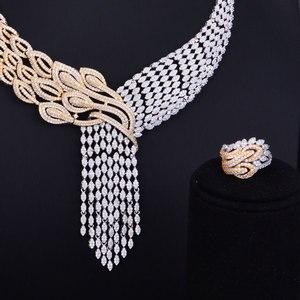 Image 4 - GODKI Luxury Tassels Drop Mixed Women Wedding Cubic Zirconia Necklace Earring Saudi Arabia Jewelry Set Jewellery Addiction