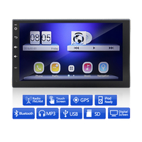 2 Din 7Inch WIfi GPS Android 4 4 Quad Core Car Video Radio Player 1080P Full