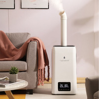 220V Smart Commerical Ultrasonic Air Humidifier Super Market Fruit Moisture Keeper 23.8L Large Capacity Remote Control