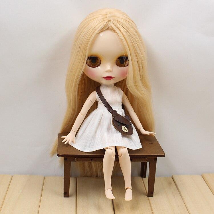 Odbarwione włosy beżowy staje się różowy wspólne ciało Nude Blyth Doll różowe włosy moda fabryka lalek lalki w Lalki od Zabawki i hobby na  Grupa 3