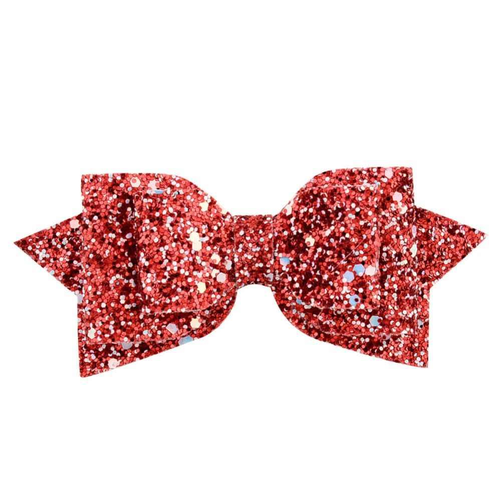 1 ชิ้น 5 นิ้วสาว Big Glitter โบว์ผมเด็ก Hairpins คลิปผมเด็กอุปกรณ์เสริมผม Retal ผมคลิปผู้หญิง 881