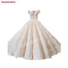 35471 Ruffle Real Sample Wedding Dress Bridal Gown