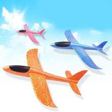 DIY modelo de Avião Modelo de Avião Planador de Espuma Mão Jogando Brinquedo Educativo Kits de Construção de Brinquedos de Construção do Edifício Ao Ar Livre 48/35 CM