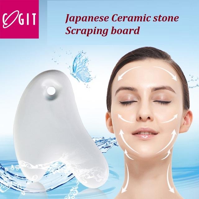 Japón cogit levantar la placa de cuerno de cerámica cara cassa de piedra natural reafirmante de La Piel placa placa de soporte para el cuello de Masaje de Alta calidad piernas