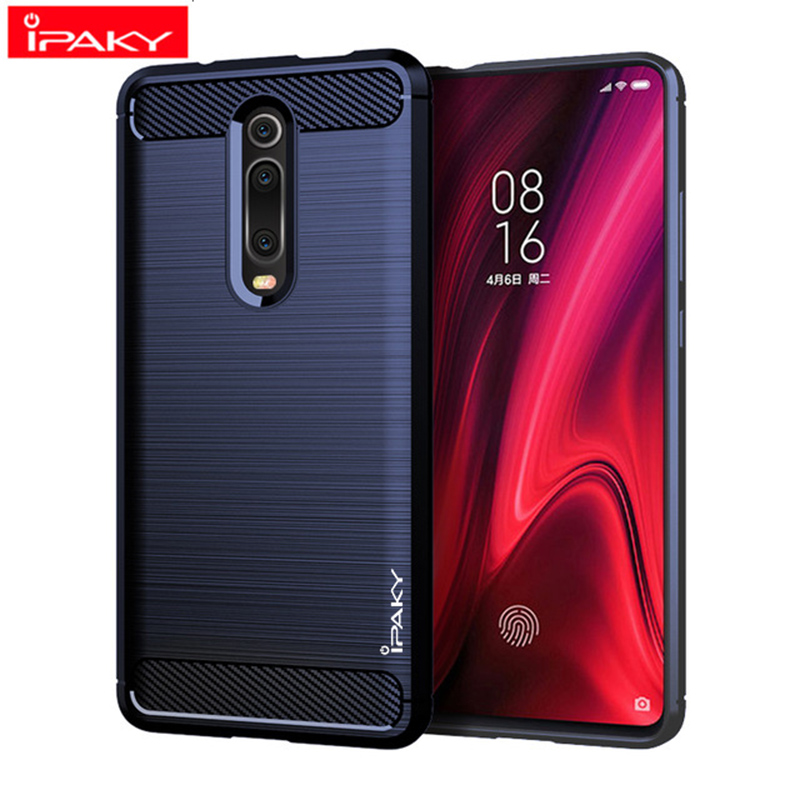 IPAKY Shockproof Phone Case Silicone Carbon fiber Cover On For Xiaomi MI 9 SE 9T Pro Mi9 9SE Mi9t t Global 64/128/256 GB Xiomi(China)