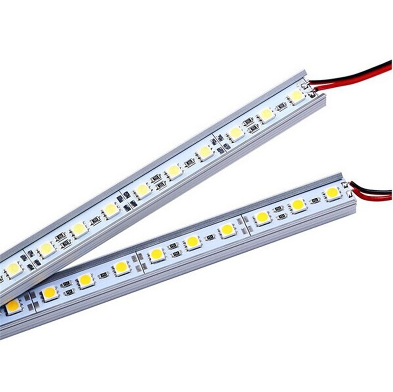Led Bar Lights 5pcs/lot 50cm Dc12v Smd 5050 36leds Hard Rigid Strip Bar Light U Aluminium Aloy Shell Cabinet Jewelry Caravan Boat Display Bright And Translucent In Appearance Led Lighting