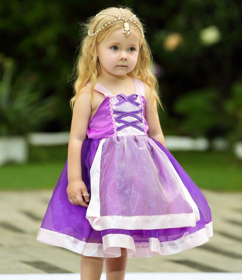 Élégant princesse fille vêtements pour enfants raiponce Halloween fête Cosplay Costume anniversaire princesse robe robe de noël vêtements