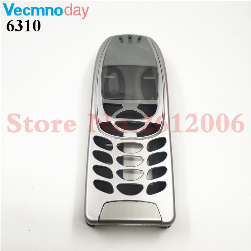 High Quality Battery Door Middle Frame Front Bezel For <font><b>Nokia</b></font> <font><b>6310</b></font> 6310i Mobile Phone Housing Cover Case ( No Keypad ) image
