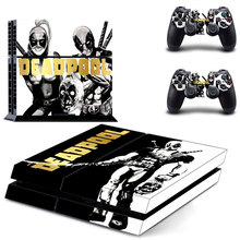 DeadPool Skin Dead Pool Stickers Vinyl Decal Skins For Sony PlayStation 4 Console&Two Wireless Remote Controller Cover