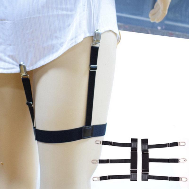 1 Pair Mens Shirt Stays Garters Suspenders Braces For Shirts Gentleman Leg Elastic Men Shirt Suspenders Garter Holder Business