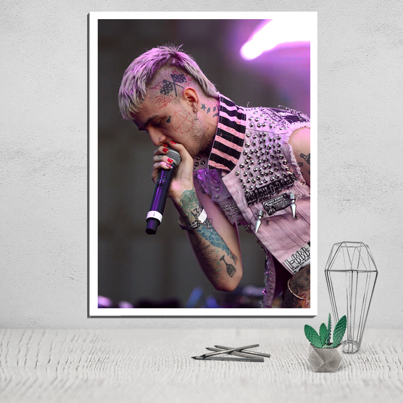 Lil Peep Photo Canvas Poster Tableau Decoration Murale Salon Posters Paintings on The Wall Deco Home Wall Art The Decoration in Painting Calligraphy from Home Garden