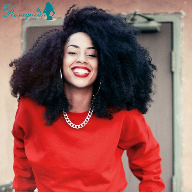 Full Lace Human Hair Wigs Front Lace Wigs Mongolian Afro Kinky Curly Hair Lace Front Human Hair Wigs For Black Women Curly Wig