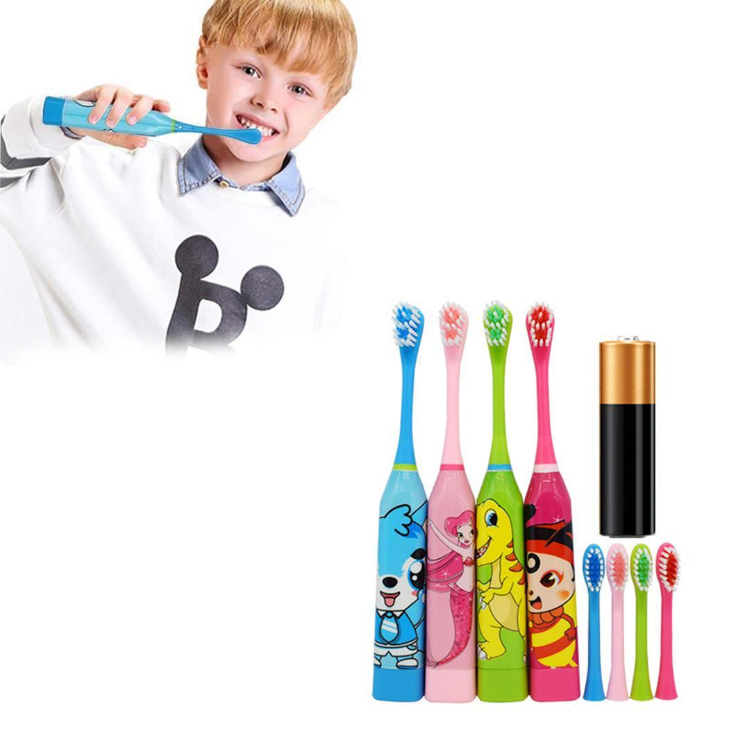 Cute Cartoon Soft Children Electric Toothbrush Oral Ultrasonic Cleaning Tool with 2pc Toothbrush HeadCute Cartoon Soft Children Electric Toothbrush Oral Ultrasonic Cleaning Tool with 2pc Toothbrush Head