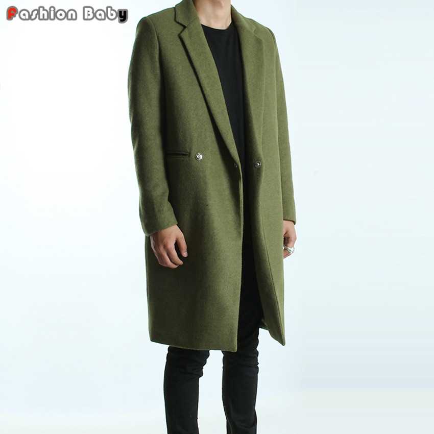 Men-s-Green-Woolen-Trench-Coats-Slim-Fit-Brand-Fashion-British-Style-Windbreaker-Overcoat-Autumn-Winter