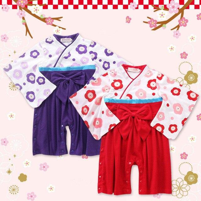 V-TREE новая одежда для маленьких девочек и мальчиков японские кимоно стиль Одежда для новорожденных комплекты для мальчиков и девочек Комбин...