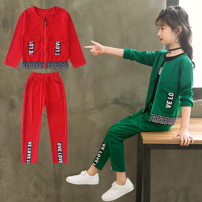 Teenage Girls Clothes Set 2018 Autumn Long Sleeve Outwear Coats + Pants Back To School Outfits Toddler Girls Clothing Sets 10 12 цена