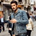 SIMWOOD 2016 Новый Осень Зима джинсы Куртка моды пальто 100% хлопок верхняя одежда slim fit NJ6513