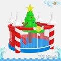 Надувные Biggors Новогоднее Украшение Bounce Дом Милый Надувной Замок для Детей Коммерческого Использования