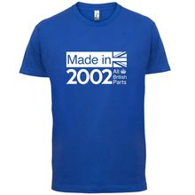 2002 British Parts - 14th Birthday Mens T-Shirt 13 Colours Gift PresentPrint T Shirt Short Sleeve HotMans Unique