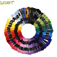 Looen 100pcs Embroidery Thread Rainbow Color Embroidery Floss Sewing Cross Stitch Threads For Women Mom Home