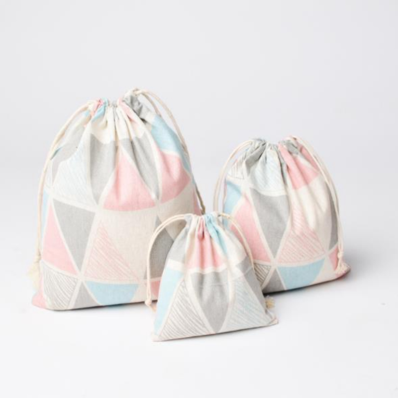 Fashion Canvas Drawstring Small Cosmetic Bag Travel Make Up Case Organizer Storage Makeup Pouch Toiletry Beauty Wash Kit Box