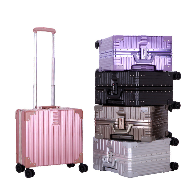 New fashion 18-inch alloy aluminum frame business board boxes Brand universal wheel travel rod boxes ZHW-180