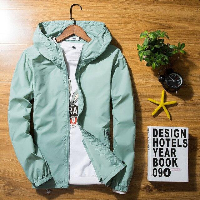 e220c686affe1 Luxus Frühling Sommer Jacke Männer Windjacke Haut Jacken Männer männer  Kapuzen Casual Jacken Mantel Plus Größe 5XL 6XL 7xl dünne Mantel