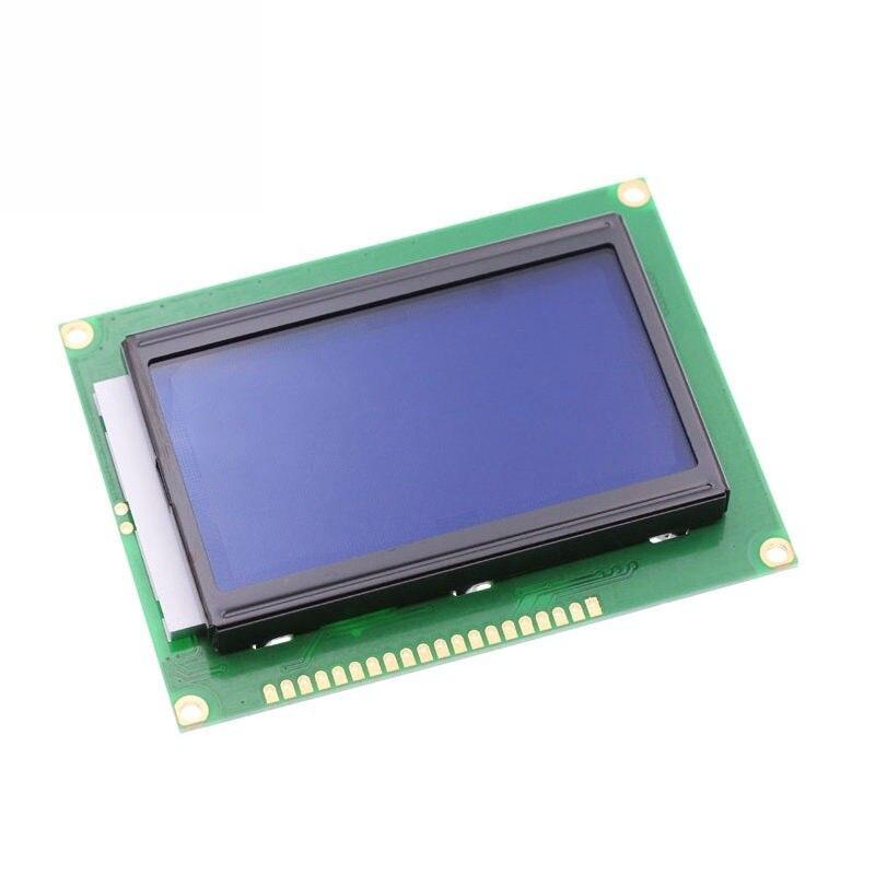 12864 128x64 pontos gráfico cor azul com retroiluminação módulo de exibição lcd st7920 porta paralela para arduino kit diy