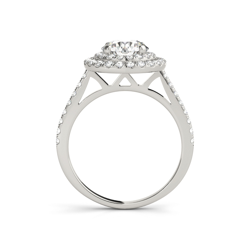 Engagement Bijoux Clair Ronde Cubique Zircon 18 K Plaqué Platine Lady Girl Anneaux