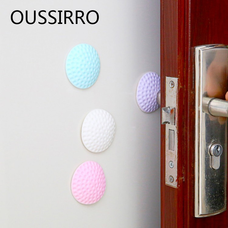 2pcs Thick Silent Quiet Golf Door Rear Wall Anti Collision Mat Anti Touch Pad Door Handle Wall Protection Cushion Shock Pad