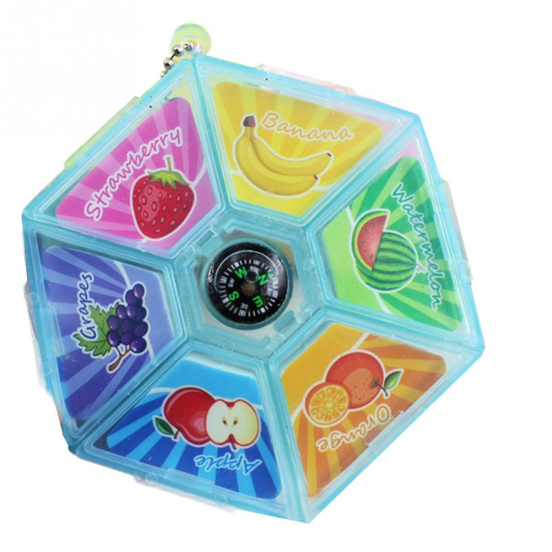 New Fruit Platter Scented Eraser With Compass Cute Student Office School Supplies #829 New