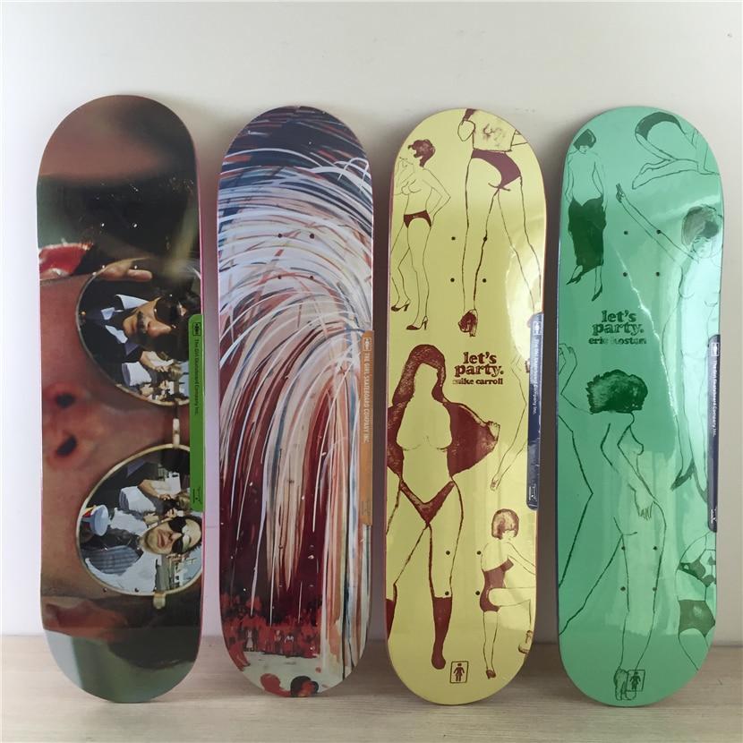 QUALITY GIRL pro Skateboarding Decks made byCanadian Maple Wood Shape Skateboard Green Girl Pattern Skate Board 8Types Available single green board multidiag pro 2014 r2 keygen