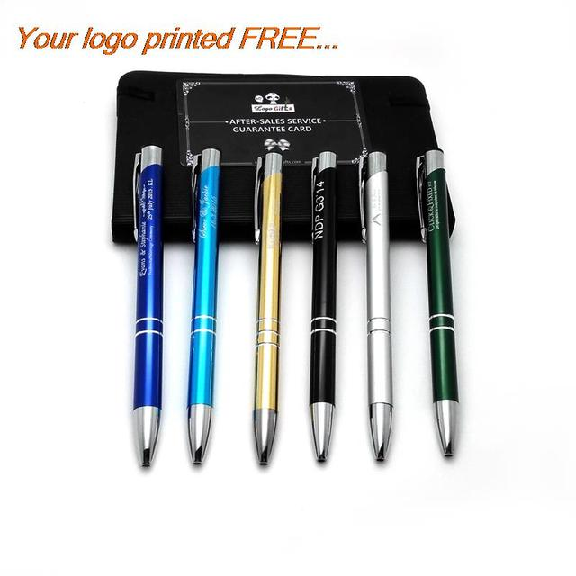 0fc605610 Empresas presentes baratos 200 PCS muito personalizado canetas brindes  publicitários negócio gravado com a sua própria