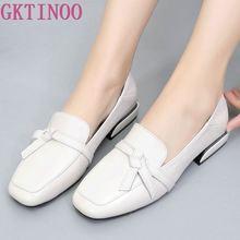 GKTINOO 2020 Square Toe Women Flats Shoes