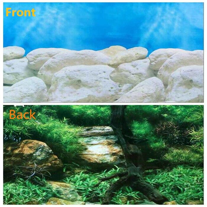 20 39 39 50cm high live aquarium background poster fish tank for Landscaping rocks for aquarium