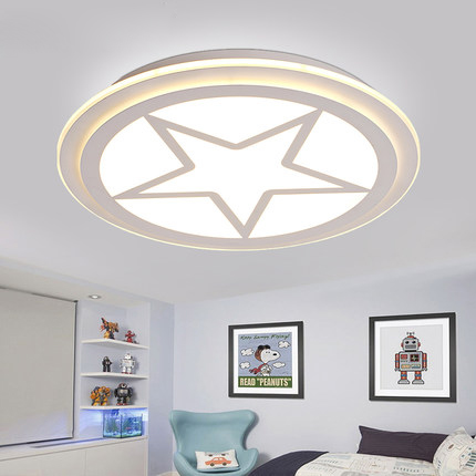 Kid's Room Lighting Captain America Acrylic Ceiling Lights Child Bedroom Cartoon 42/52/62cm for Living Room Home Decoration Lamp