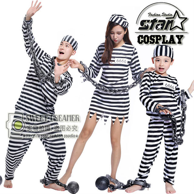 Fantasia Prisoners Costume Family Matching Cosplay Halloween Costume for Mommy Daddy Son Cute Game Uniforms Funny  sc 1 st  AliExpress.com & Fantasia Prisoners Costume Family Matching Cosplay Halloween Costume ...