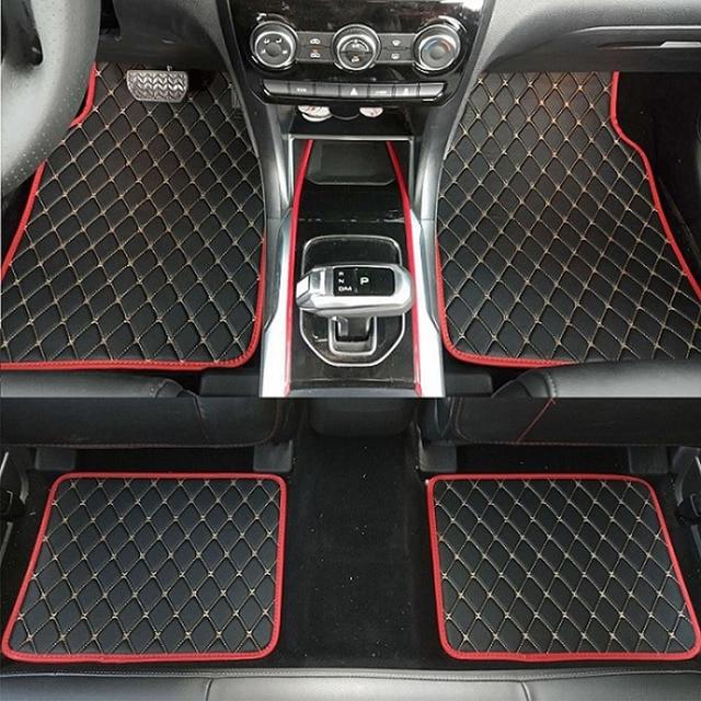 Sunny Fox Universal Car Floor Mats Leather Waterproof Floor Mats Red