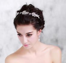 Rhinestone Hair Band Bridal Hairbands Crystal Headband Wedding Hair Accessories Head Jewelry Hair Ornaments Tiara Noiva WIGO0398