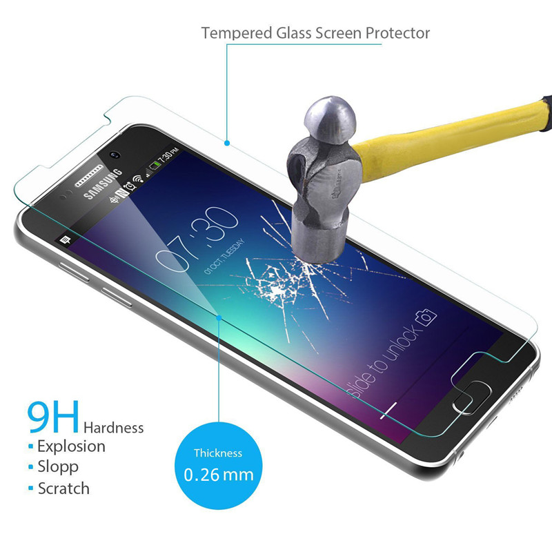Premium 0.3mm 2.5D Tempered Glass Film Explosion Proof Screen Protector for Samsung Galaxy S2 S3 S4 S5 S6 S7 Film for Galaxy S7