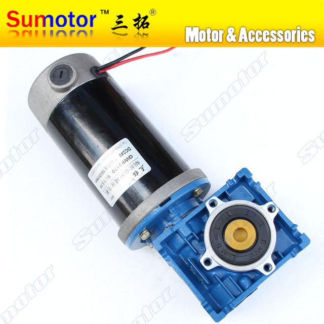 DC 12V 15A, 24V 8A GW80170 gear box Reducer Electric worm geared motor High power Large big torque Low speed Industry machinery