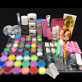 Burano Nail Acrylic liquid power colors glitter clipper primer file nail art tips tool brush tools kit set acrylic 2901