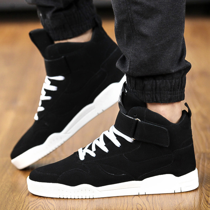 9b3b2a7c66 High Top Men Classic Suede Leather Men Casual Shoes Fashion Ankle Boots  Lace up Autumn Sport Waterproof Men Sneakers-in Men's Vulcanize Shoes from  Shoes on ...